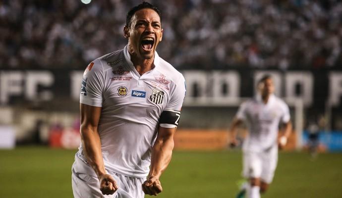 Ricardo Oliveira é decisivo mais uma vez, faz 2 gols e garante a vitória santista. (Foto: www.yahoo.com.br)