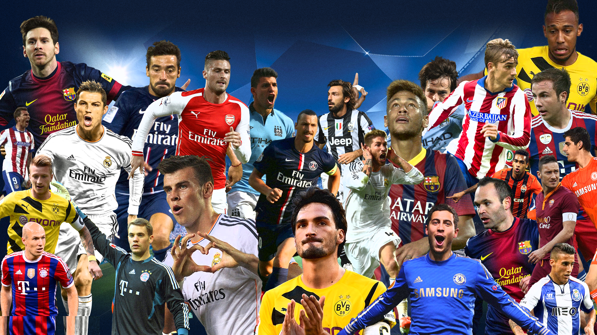 Uefa Champions League Players Hd Wallpaper Soccer Trophy World Cup Champnion
